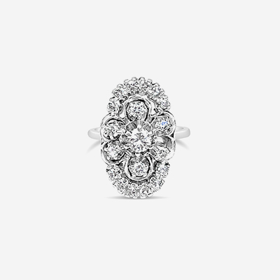 14kt Oval Shape Diamond Ring