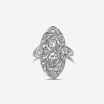 Platinum Antique Diamond Ring