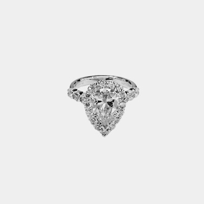 Platinum Pear Diamond Engagement Ring