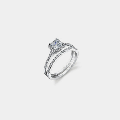 14K Princess Diamond Engagement Ring