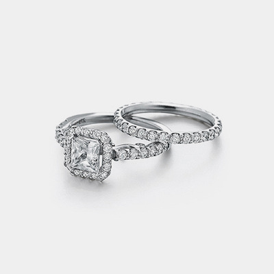 14K Princess Cut Diamond Engagement Ring