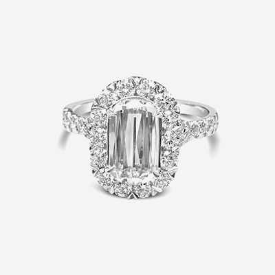 18kt L'Amour Crisscut Diamond Engagement Ring