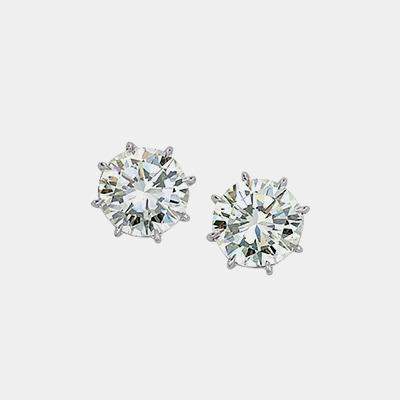14kt 8 Prong Diamond Studs