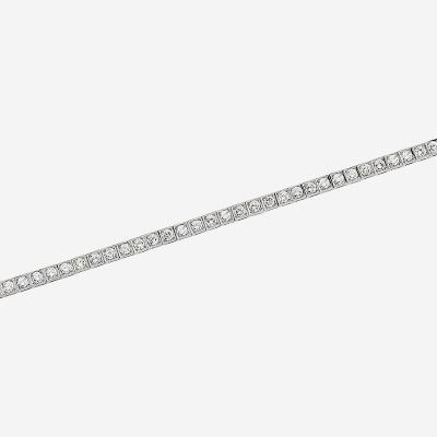 Platinum Diamond Block Bracelet