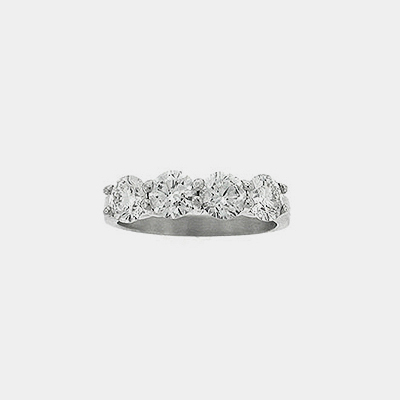 Platinum Four Diamond Wedding Ring