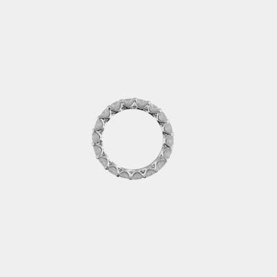 Platinum Diamond Shared Prong Eternity Wedding Band