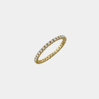 18k Gold Diamond Eternity Wedding Band