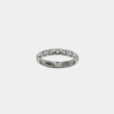 14kt White Gold Diamond Wedding Band