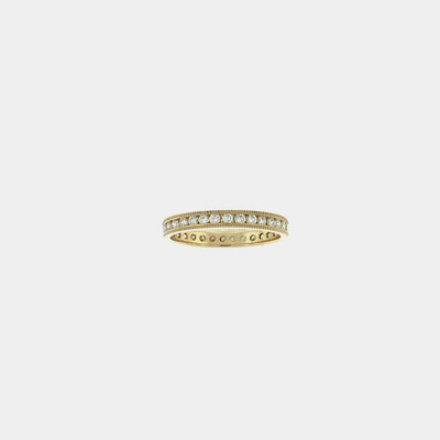 14kt Rose Gold Diamond Eternity Ring W/Milgrain Edge