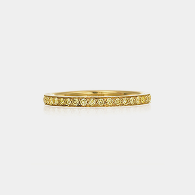 18k Yellow Gold Diamond Eternity Wedding Band