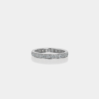18kt White Gold Semi Channel Diamond Eternity Wedding Band
