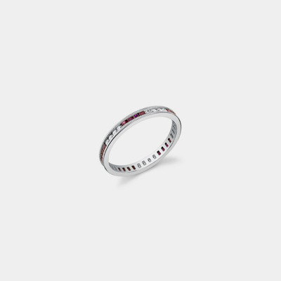 Platinum, Ruby And Diamond Wedding Band