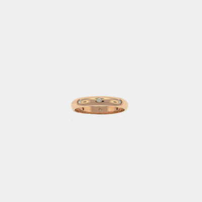 14kt Pink Gold Diamond Wedding Ring