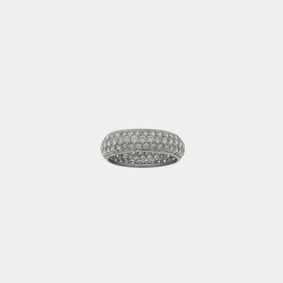 18kt White Gold Diamond Pave Eternity Wedding Band