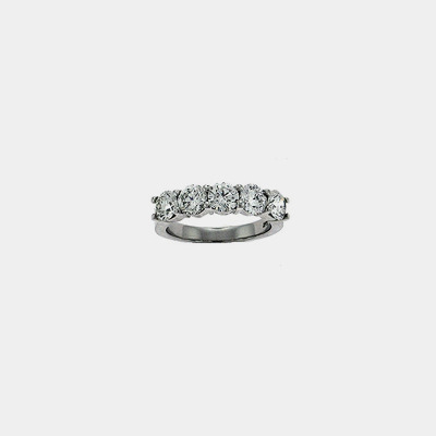 Platinum Classic Five Diamond Wedding Ring