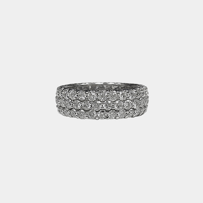 18kt White Gold Diamond Eternity Wedding Band