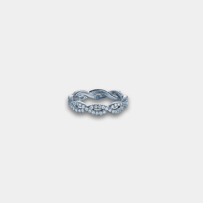 Twisted Diamond Eternity Ring