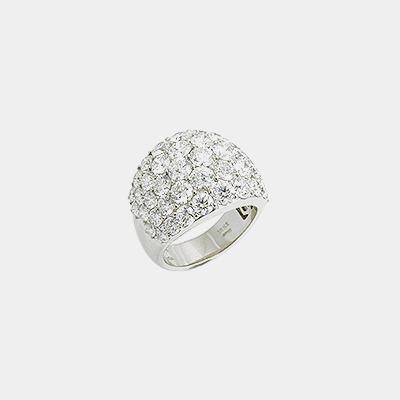 Domed Diamond Ring