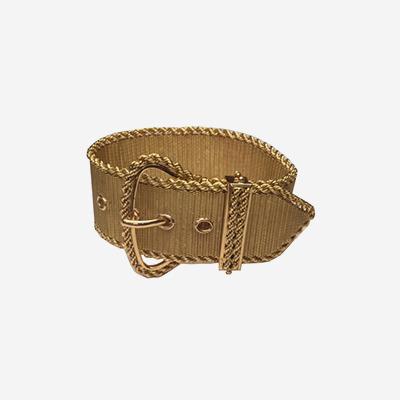 19.2kt Wide Mesh Buckle Bracelet