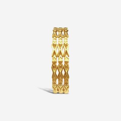 18kt 3 Row Gold Bracelet