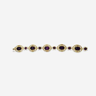 14kt Antique Amethyst Bracelet