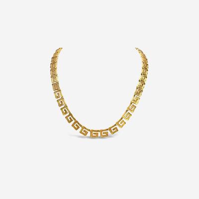 18kt Greek Style Key Design Necklace