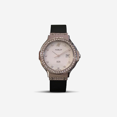 Stainless Steel and Diamond Hublot Ladies Watch
