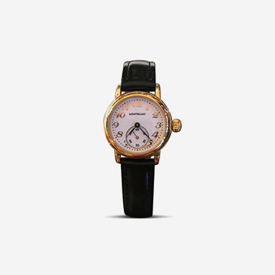 Yellow Tone Mont Blanc Ladies Wristwatch