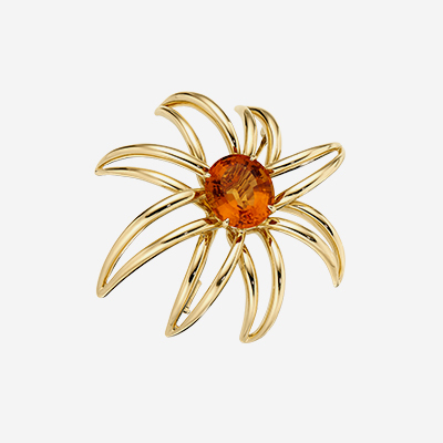 18kt Tiffany Citrine Pin