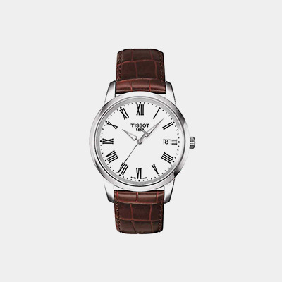 Men's Brown Leather Tissot Classic Dream Watch