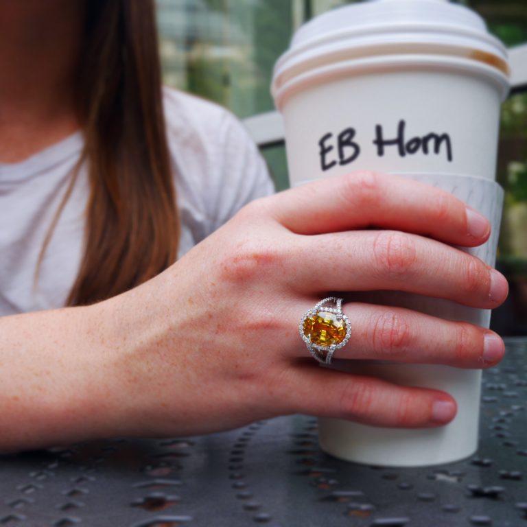 E.B. Horn Yellow Sapphire and Diamond Ring
