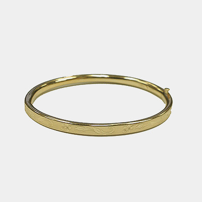 Baby Bangle With Etching