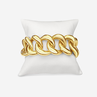 18kt Large Stretch Link Bracelet
