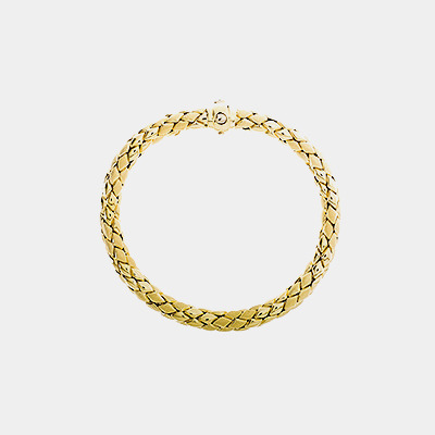 "Gold ""Ofidio"" Braided Stretch Bracelet"