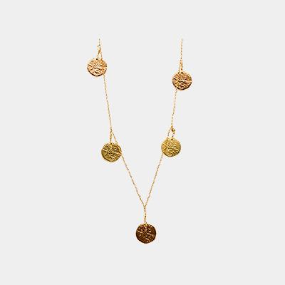 Coin Drop Necklace