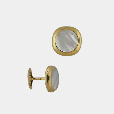 18kt Mother-Of-Pearl Cufflinks