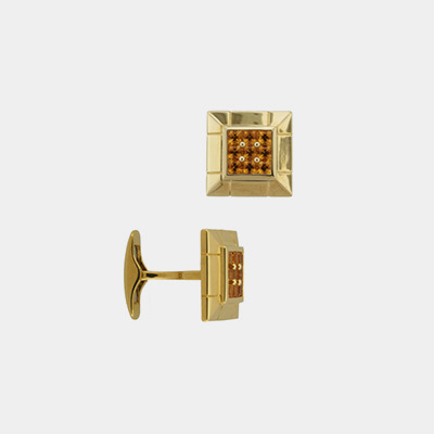 18kt Invisibly-set Citrine Cufflinks