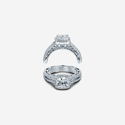 Venetian Diamond Engagement Ring