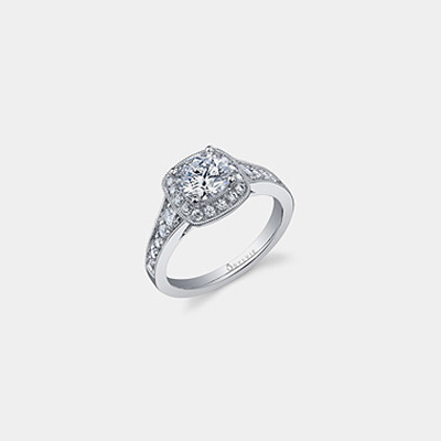18K Diamond engagement ring Mounting