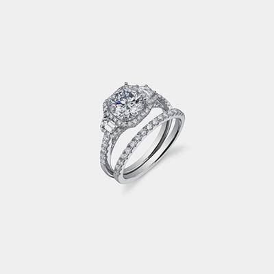 14K Diamond engagement ring Mounting