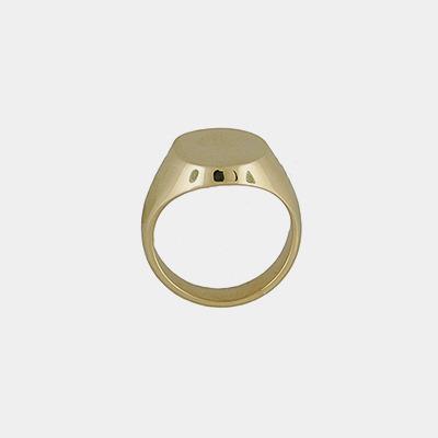 14kt Men's Heavy Signet Ring