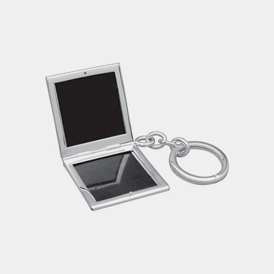 Sterling Silver Double Window Picture Key Chain