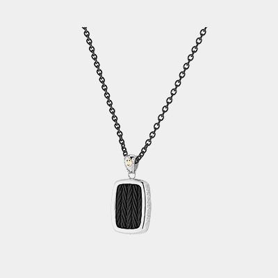 Black Cable Necklace