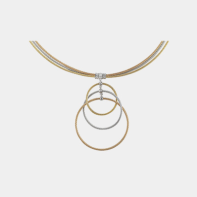 Stainless Steel Open Circle Necklace