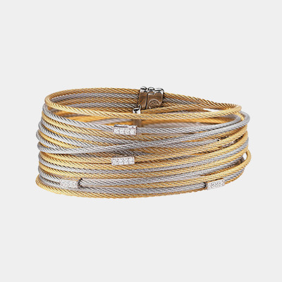 Wide Multi-cable Bracelet