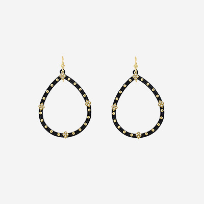 Open Pear Shape Earrings