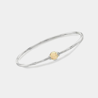 Two-Toned Cape Cod Style Bangle