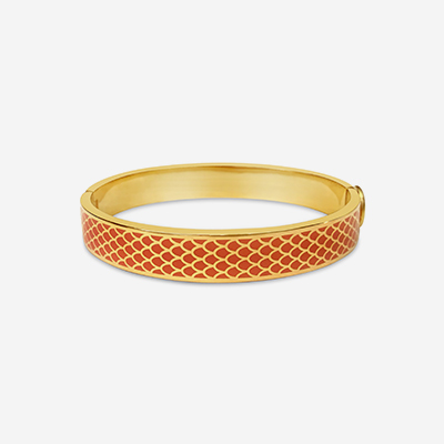 18kt Salamander Orange Hinged Bangle