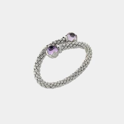 Amethyst Single Stretch Bracelet