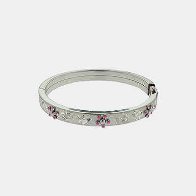 Baby Bracelet With Pink Flowers